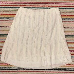 Dresses & Skirts - White and silver striped gauzy skirt